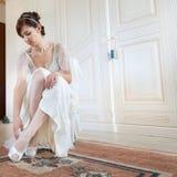 Scarpe della sposa immagine stock