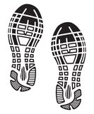 Scarpe delle sogliole dell'impronta - scarpe da tennis illustrazione di stock