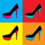 Scarpe di Art Female di schiocco illustrazione di stock
