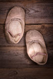 Scarpe di balletto del bambino Fotografie Stock Libere da Diritti