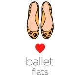 Scarpe di balletto femminili Immagini Stock
