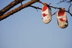 Scarpe di bambino Fotografie Stock Libere da Diritti