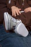 Scarpe di bambino Fotografia Stock