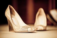 Scarpe di Bling Immagini Stock