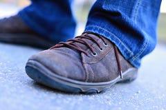 Scarpe di Brown Immagine Stock
