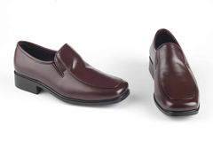 Scarpe di Brown degli uomini Fotografia Stock