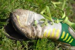 Scarpe di calcio Fotografie Stock