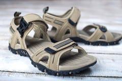 Scarpe di estate dei sandali Fotografie Stock Libere da Diritti