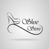 Scarpe di logo Immagine Stock