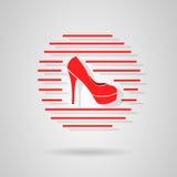 Scarpe di logo Fotografia Stock