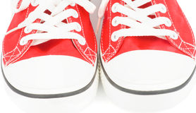 Scarpe di palestra rosse Immagine Stock