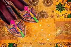 Scarpe etniche del Ragiastan Fotografia Stock Libera da Diritti