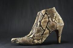 Scarpe fatte della pelle di serpente Fotografia Stock