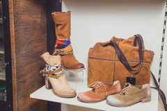 Scarpe, le scarpe delle donne, scarpe alla moda Fotografia Stock Libera da Diritti