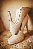 Scarpe moderne di nozze immagini stock libere da diritti