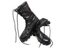 Scarpe nere dell'esercito Fotografia Stock Libera da Diritti