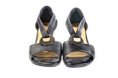 Scarpe, paia delle scarpe femminili Fotografia Stock