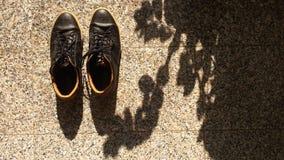 Scarpe pronte per un'avventura Fotografia Stock Libera da Diritti
