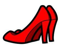 Scarpe rosse Immagini Stock Libere da Diritti
