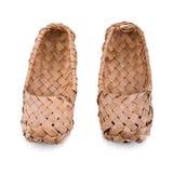 Scarpe russe della rafia Fotografia Stock Libera da Diritti