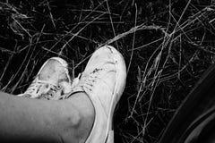 Scarpe sul campo Fotografie Stock Libere da Diritti