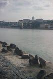 Scarpe sul Danubio Fotografia Stock Libera da Diritti