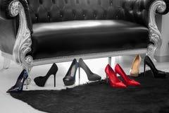 Scarpe a tacco alto del ` s delle donne Fotografie Stock