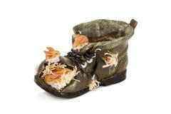 Scarpe vuote del vaso Fotografie Stock