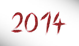 Scarry bloody inscription new year 2014 Stock Photo