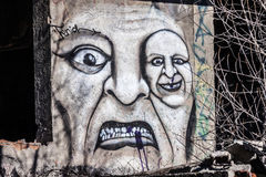 Scarry graffiti Royalty Free Stock Image