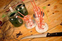 Scarry green  drink stiil life Stock Photo