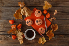 Scarry halloween pumpkin background Royalty Free Stock Photography