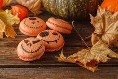 Scarry halloween pumpkin background Stock Photography