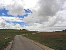Scarsa strada alla montagna Fotografia Stock