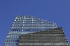 Scarsa visibilità sull'orizzonte di Milano Immagini Stock