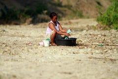 Scarsità di acqua pulita Fotografia Stock Libera da Diritti