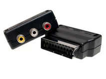 Scart Adapter Lizenzfreies Stockbild
