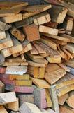Scarti di legno fotografia stock