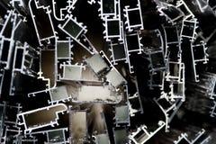 Scarto di alluminio per riciclare Immagine Stock