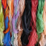 Scarves. Colorful scarves royalty free stock images