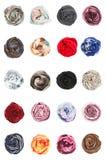 scarves Collards jedwabniczych scarves fałdowe różyczki Zdjęcia Stock