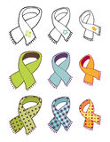 Scarves collection royalty free stock photography
