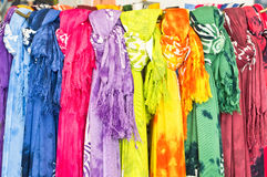 Scarves coloridos Foto de Stock