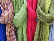 Scarves coloridos Fotografia de Stock