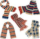 Scarves feitos malha Fotografia de Stock Royalty Free