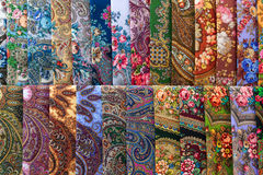 Scarves with floral patterns Royalty Free Stock Image