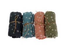 Scarves folded roll, isolate Stock Photo