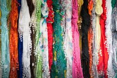 Scarves Hanging Stock Photos