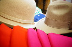 Scarves and hats Royalty Free Stock Images
