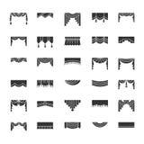 Scarves & kornischer Bästa behandlingar för fönster Olika stilar av D vektor illustrationer